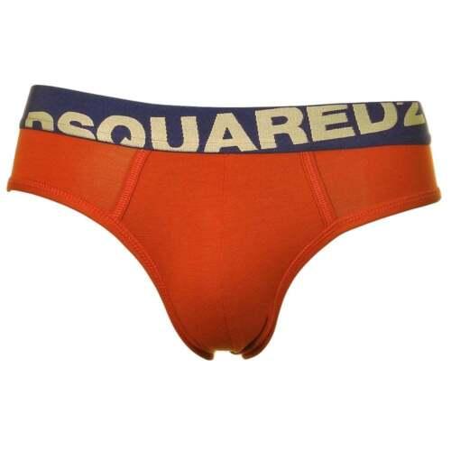 Red Oxide Dsquared2 Men/'s Underwear Slip Silk Feel Modal Stretch Logo Brief