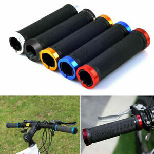 1 Pair Double Lock On Locking Mountain Bike Bicycle Cycling Handle Bar Grips CA