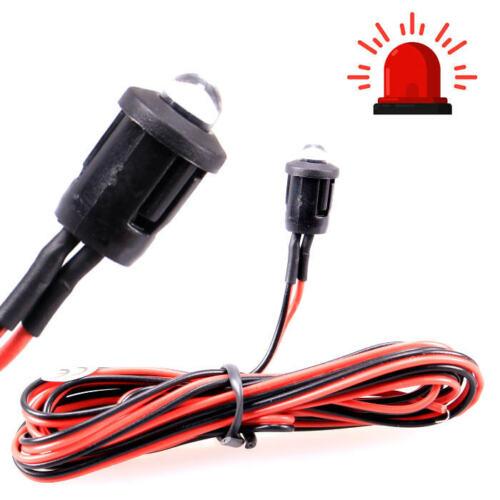 12v Dummy alarma-apéndice simulador rojo LED destellante auto Transporter motocicleta Boot