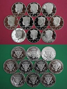 1993 1990 1991 1992 1994 P /& D Kennedy Half dollars 10 Coins Total- Circulated About Uncirculated