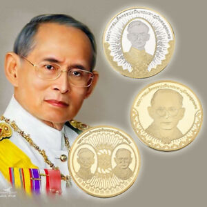 WR-Thai-King-039-s-88th-Birthday-Gold-Foil-Commemorative-Gift-Collection-Value-Coin