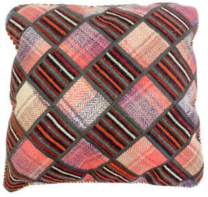 Morgenland-Oriental-Pillow-55x55cm-Hand-Woven-Virgin-Wool-Check-Pattern