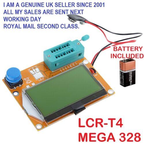 LCR-T4 MEGA 328 TRANSISTOR DIODE CAPACITOR ESR LCR Meter MOSFET  PNP TESTER