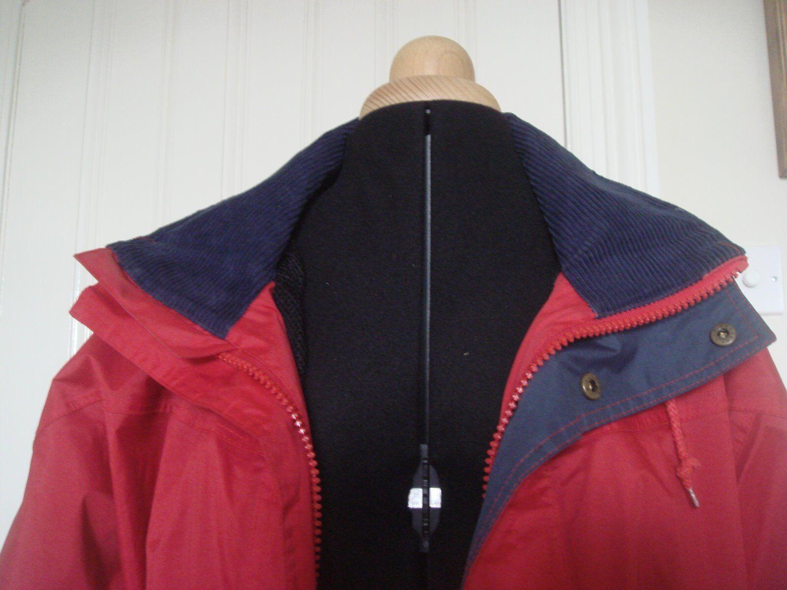 L'Original Puffa Outdoor Wear Femmes Veste en rouge col avec bleu col rouge et bordure S 88cf67