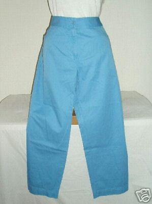 NWT Eileen Fisher Horizon bluee Cotton Cropped Pants M inseam 25