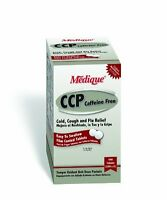 Medique 10513 Cold Cough Flu Relief Caffeine Free Non Drowsy, 500 Tablets, New,