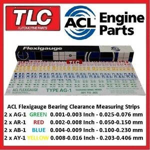 Flexigauge-Plastigauge-AR-1-RED-x-2-AG-1-GREEN-x-2-AB-1-BLUE-x-2-AY-1-YELLOW-x-2