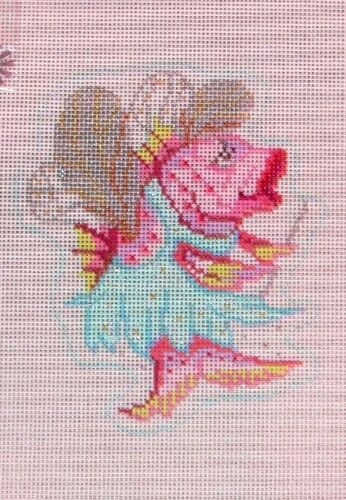 JG Squiggee Fairy Fish with Embellishments HP Handpainted Needlepoint Canvas