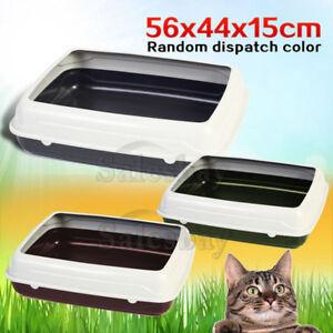 Large-Quaity-Pet-Cat-Kitty-Litter-Pan-Tray-Box-With-Rim-56X44X15cm