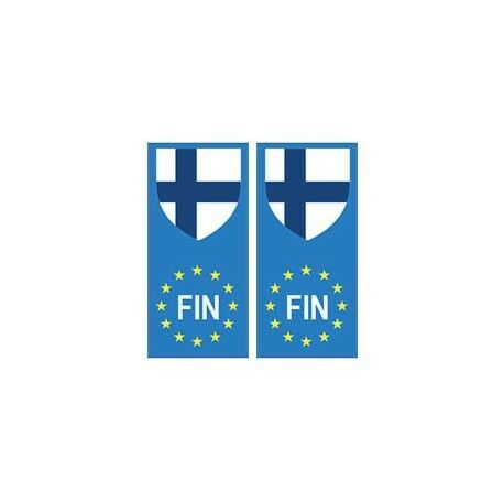 Finlande Suomi europe drapeau Autocollant -  Angles : droits