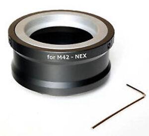 M42-nex-Objektiv-Adapter-fuer-m42-Objektiv-an-Sony-E-Mount-Inbusschluessel-UK-Verkaeufer
