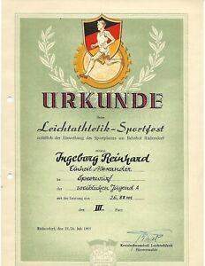 Urkunde-DDR-1954-Sport-SELTEN
