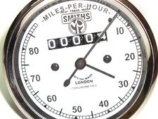 DR@BID 0-80 Mph Matchless White Face Speedometer Smiths Replica