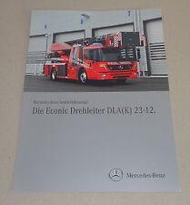 Prospekt / Werbung Mercedes - Benz Econic Drehleiter DLA ( K ) 23-12