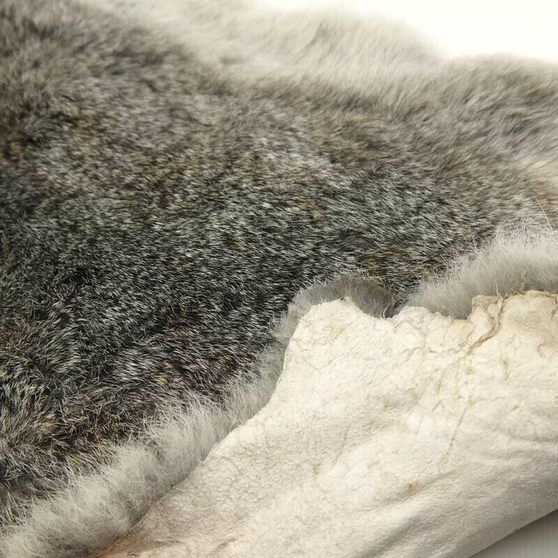 1PC Genuine naturellement fourrure de lapin Peau Cuir Tanné cache Craft Gray peaux NEUF
