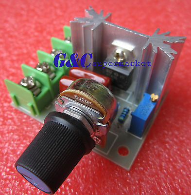 2PCS 220V 2000W Speed Controller SCR Voltage Regulator Dimming Thermostat M44