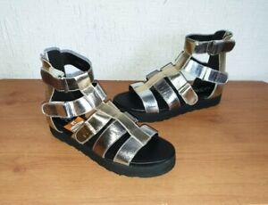 lowest discount price reduced super quality Details about Women's Schuh Golden/Black Sandals - Size UK 4 (Eur 37) -  UNWORN - RPR 34.99