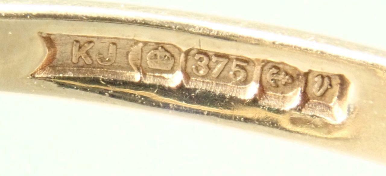 Beautiful Vintage Estate 9K Gold 1.1ct Opal Garne… - image 9