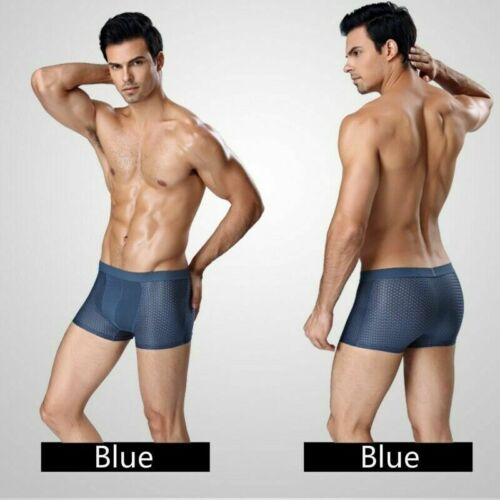 3 x Uomo Mutandine Boxer Sport Shorts Mesh Elastico Intimo Mutande Traspirante