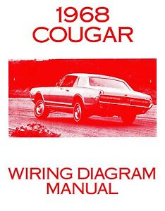 1968 68 cougar wiring diagram manual ebay rh ebay com 1968 cougar turn signal wiring diagram