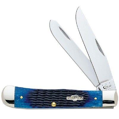 CASE XX KNIVES NAVY BLUE BONE TRAPPER KNIFE NEW #2800 USA MADE SALE PRICE