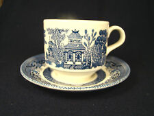 Churchill China Willow Blue Cup and Saucer Set(s) England White & Blue #9