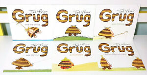 Lot-of-6x-Brand-New-Grug-Children-039-s-Picture-Books-by-Ted-Prior