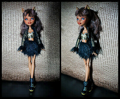 Mh Clawdeen Wolf Ooak - Repaint & Restyle