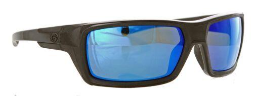 Gargoyles Sunglasses Khyber Black Smoke Blue Mirror Polarized new