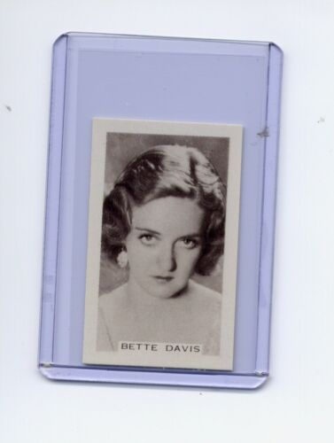 Facchinos Chocolate Wafers 1936 #85 Bette Davis MINT Super FREE SHIPPING