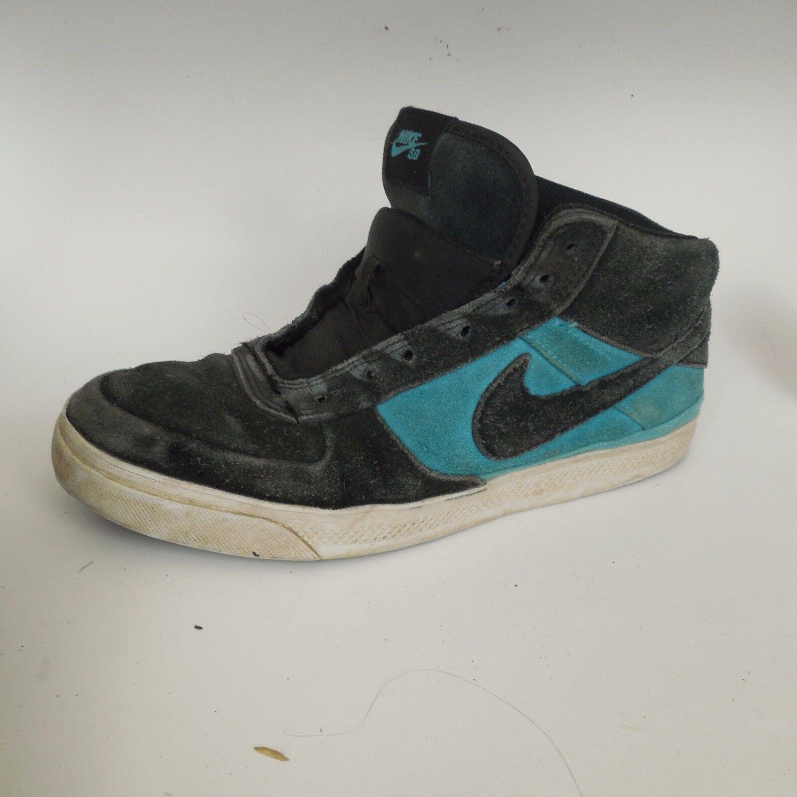 Le scarpe nike sb mavrick Uomo sz m 386611 009 scamosciato hi top nero blu e scarpe da ginnastica