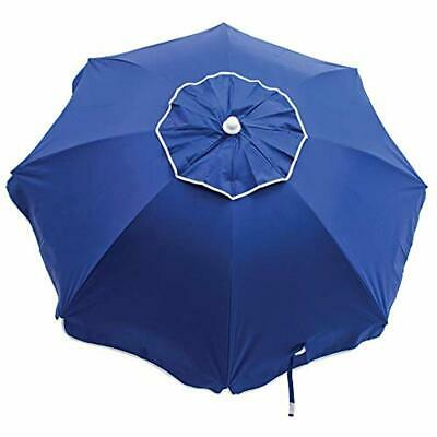 6 ft Beach Tilt Umbrella with Sand Anchor Blue