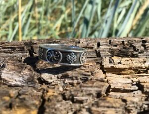 Solid-Sterling-Silver-925-seven-characters-RING-Ethnic