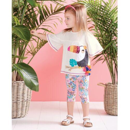 Mud Pie E8 Wild At Heart Baby Girl Toucan Tunic /& Capri Set 1112402 Choose