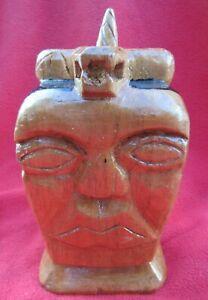 Cuban-Santeria-Carved-Wood-Yemaya-Olokun-With-Snake-Atop-Her-Head