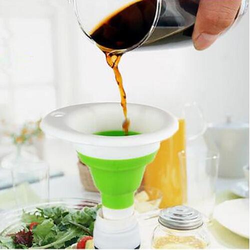 Dobrável Silicone Dobrável Estilo Funil Culinária Cozinha Hopper acessadores Rf Te