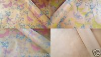 Butterfly Kraft Brown Patterned Paper Floral Birthday Wrapping Floristry Gift