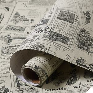 3m-Retro-Newspaper-Wallpaper-Stickers-Vinyl-Self-Adhesive-Wall-Covering-Bedroom