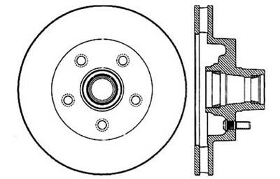 Disc Brake Rotor-OE Type Drilled Disc-Preferred Front Centric 128.35170