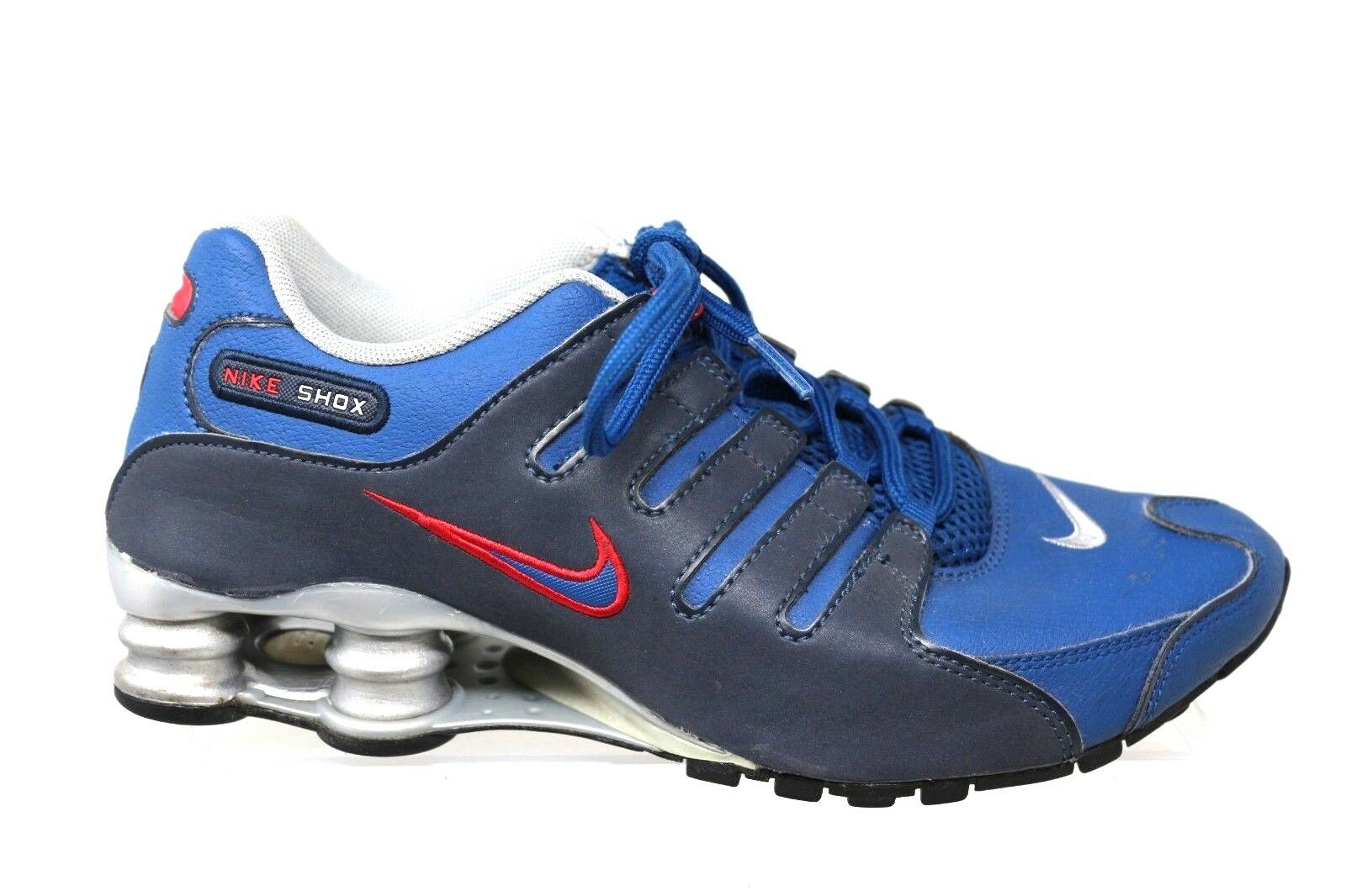 Nike Shox NZ Leather Gym bluee colorway Running shoes Mens Size 6