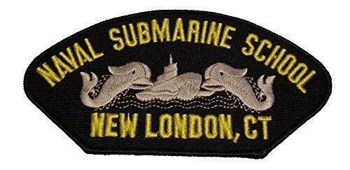 USN NAVY NAVAL SUBMARINE SCHOOL NEW LONDON CT PATCH DOLPHINS VETERAN