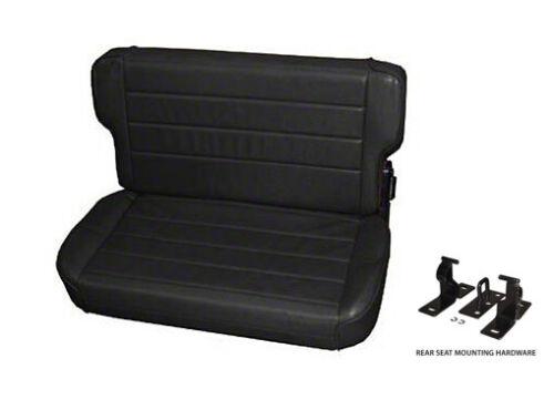 PRE-ORDER 55-95 Jeep Wrangler CJ Smittybilt Fold Tumble Rear Seat Black 41315