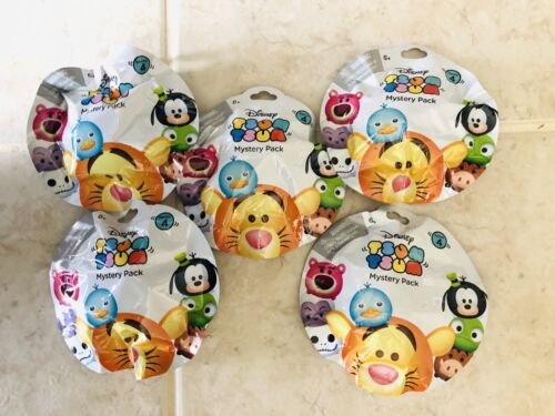 NEW DISNEY TSUM TSUM SERIES 4 Sealed Blind Bags LOT OF 5 FREE SHIPPING