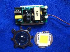 50w High Power Led Led Driver 44mm Lens Reflector Bracket For Diy Led Kit