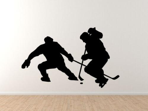 Vinyl Wall Decal Hockey Silhouette Player Varsity Professional League #7