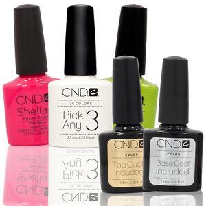 CHOOSE-3-PLUS-TOP-BASE-COAT-Nail-Polish-CND-Shellac-UV-0-25-Soak-Off-Colors
