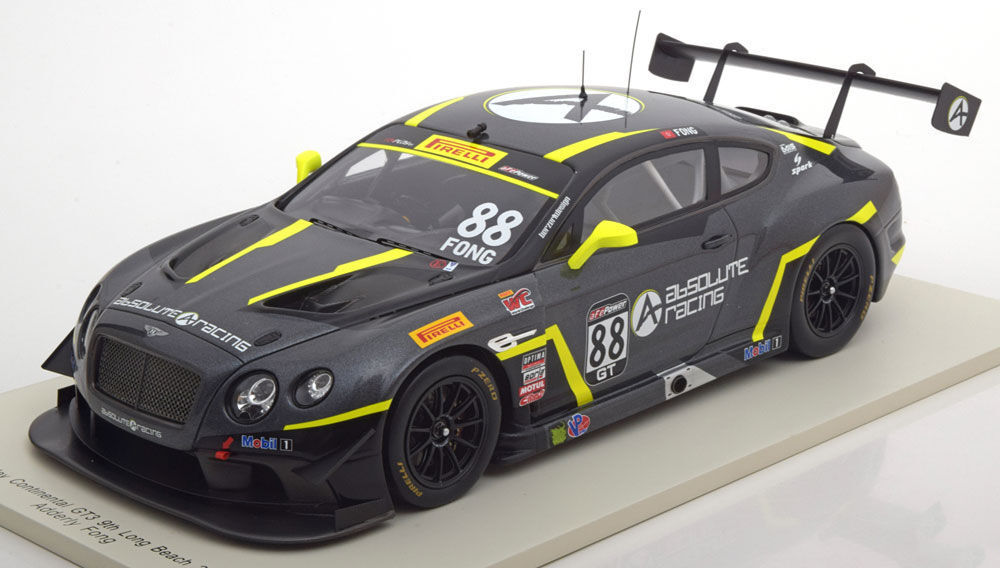 Spark 2016 Bentley Continental GT3 Long Beach Fong  88 1:18*Nuovo*RARE EDITION