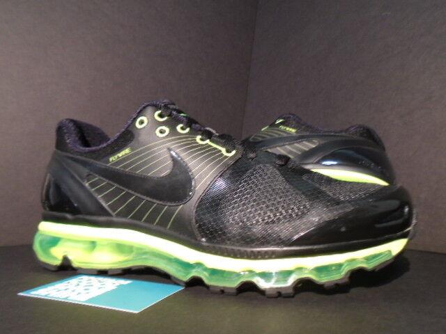 Nike Air Max + 2010 Attack Pack 360 Noir Neon Volt Vert 386368-008 10.5