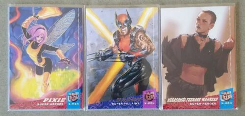 2018 Fleer Ultra X-Men Achievement 3 card ePack exclusive PIXIE//DAKEN//NEGASONIC