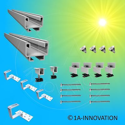 Erneuerbare Energie Photovoltaik-zubehör Solar Montagesystem Dachhalterung Unterkonstruktion Für Solarmodul 250w 280w